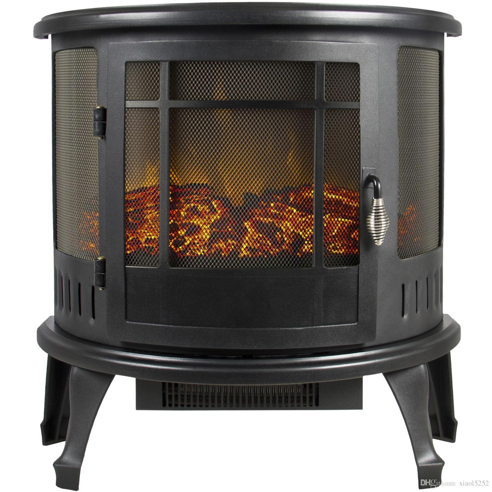 2019 portable electric fireplace stove 1500w space heater realistic rh dhgate com