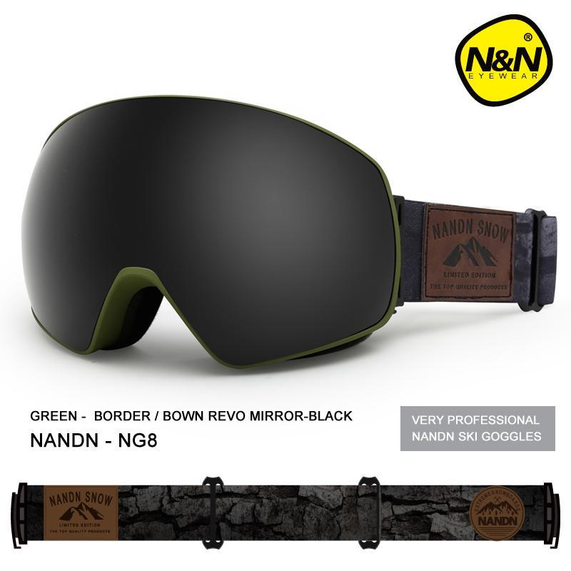 Compre NANDN NEVE Óculos De Esqui Duplo Camadas UV400 Anti Fog Grande  Máscara De Esqui Óculos De Esqui Das Mulheres Dos Homens De Miaoshakuai, ... ef24a248b3