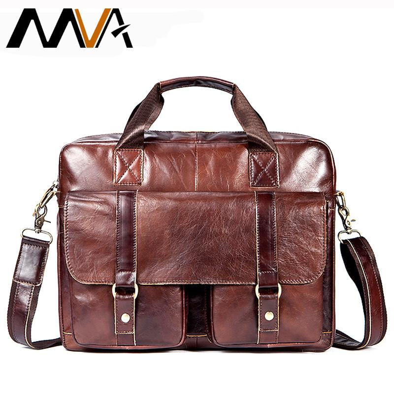 c7750a7d36 MVA Briefcases Male Genuine Leather Men Bags for Document Leather Laptop Bag  Messenger Bag Men Shoulder Bags Office Man Handbags S921 Online with ...
