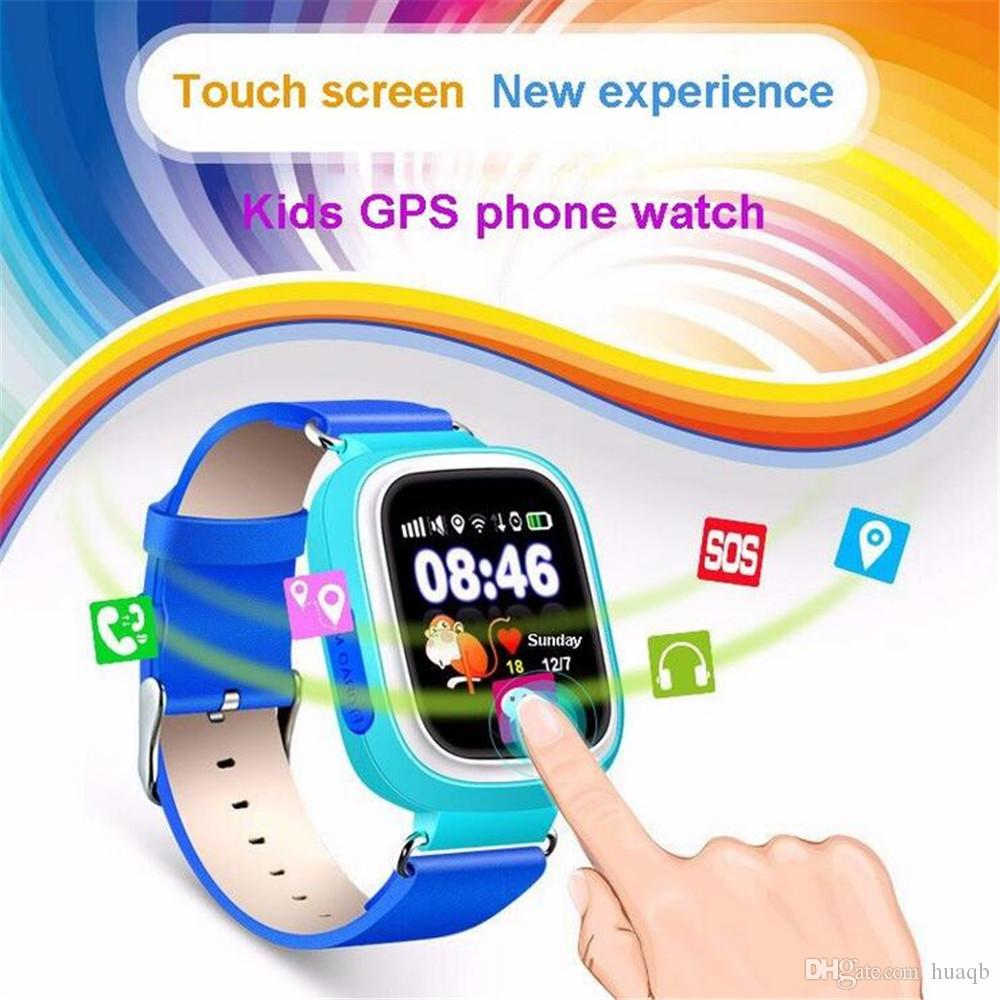 Q90 Kids Bluetooth Smartwatch with GPS WiFi LBS for iPhone IOS Android Smart Phone Wear Clock Wearable Device Smart Watch