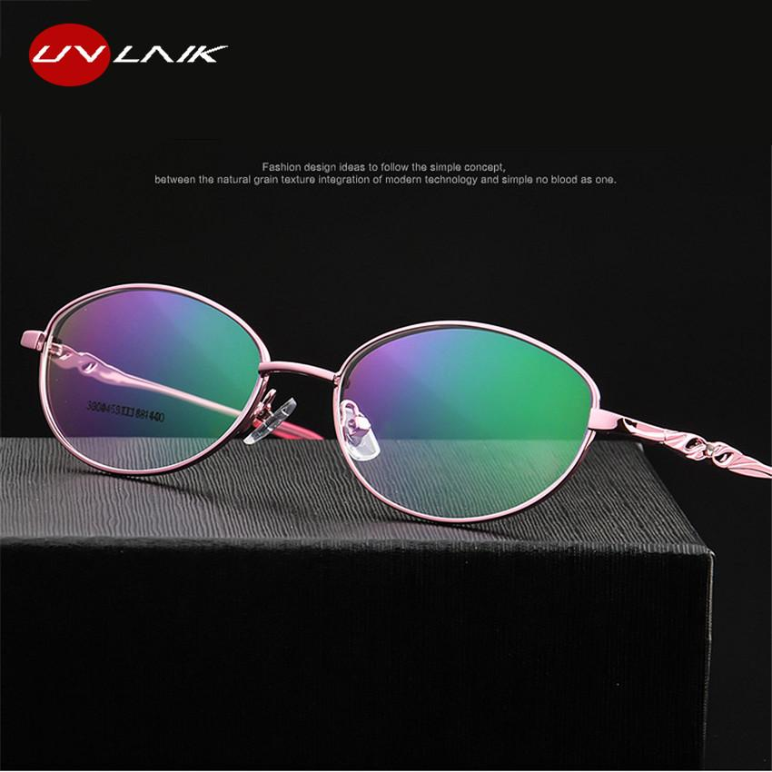 3ed9cc2c0d 2019 UVLAIK Optical Eyeglasses Women Half Frame Round Glasses Frame  Transparent Spectacle Frames Clear Lens Eyewear From Kwind