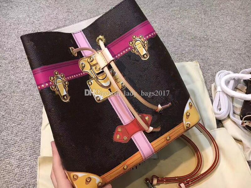 Newset NeoNoe bucket bags handbags women floral check print shoulder bag Suitcase Graffiti dcrossbody bag