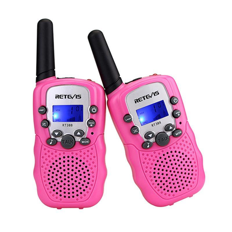 2018 Hot A Pair Retevis RT-388 Mini Walkie Talkie Radio bambini 0.5W 8 / 22CH Display LCD Radio bidirezionale bambini Ricetrasmettitore bambini