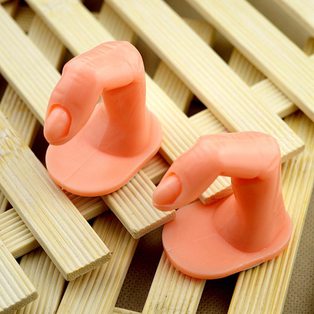 2 Estilos Dedos falsos Modelo de uñas Práctica de entrenamiento Manicura Nail Art Salon Consejos falsos Herramientas de visualización AAA210