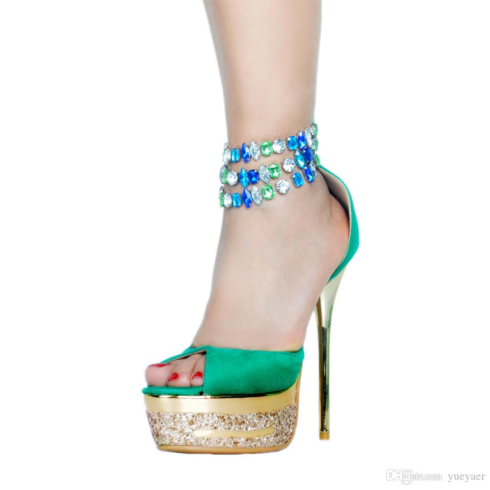 3708714a884893 Zandina 2018 New Hot Sale Summer Handmade Women's High Heel Sandals D'orsay  Style Bead String Fashion Shoes Platform Party Prom Sandals A065
