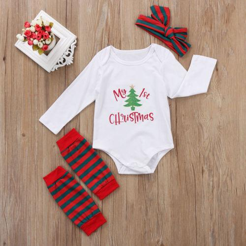 05f316d8c47c 2018 Christmas Newborn Baby Boy Baby Girl Long Sleeve Letter Clothes ...