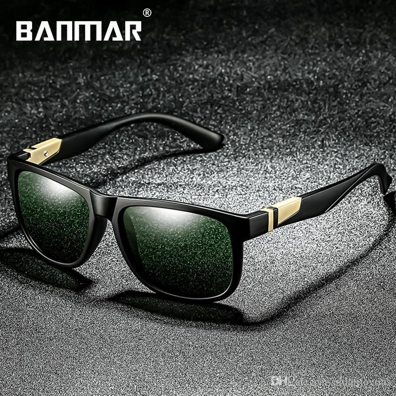 b167a23ed115d BANMAR New Polarized Sunglasses Men Women Brand Square Black Frame Sun  Glasses Driving Shades Unisex Fishing Eyewear Oculos 0944 Polarized  Sunglasses ...