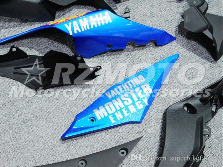 3 free gifts Complete Fairings For Yamaha YZF 1000-YZF-R1-15 YZF-R1-2015 Motorcycle Full Fairing Kit Black Yellow Blue I23
