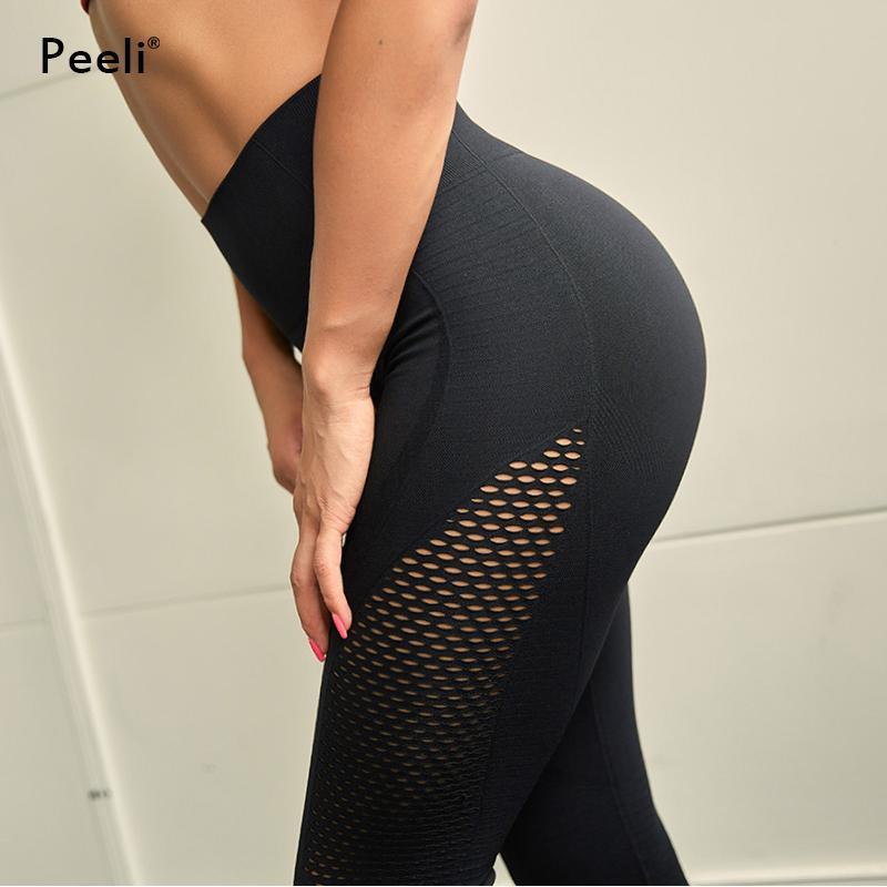 00d73ab03f68c 2019 Peeli Sexy Yoga Pants High Waist Fitness Gym Seamless Leggings Sport Women  Tummy Control Leggings Push Up Workout Running Tights From Capsicum, ...