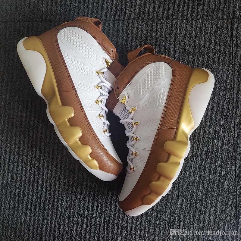 58438e3b253c6b Hombres 9 Mop Melo Gold Y Brown 302370 122 Mens Boy Basketball Shoes 9s  Zapatillas De Deporte De Lujo Zapatillas Deportivas Por Findjordan