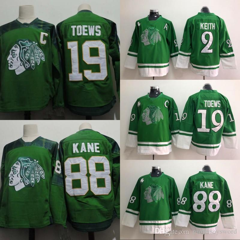 cheap blackhawks 19 jonathan toews green st pattys day stitched nhl jersey  56bf5 747b9 7d597920f