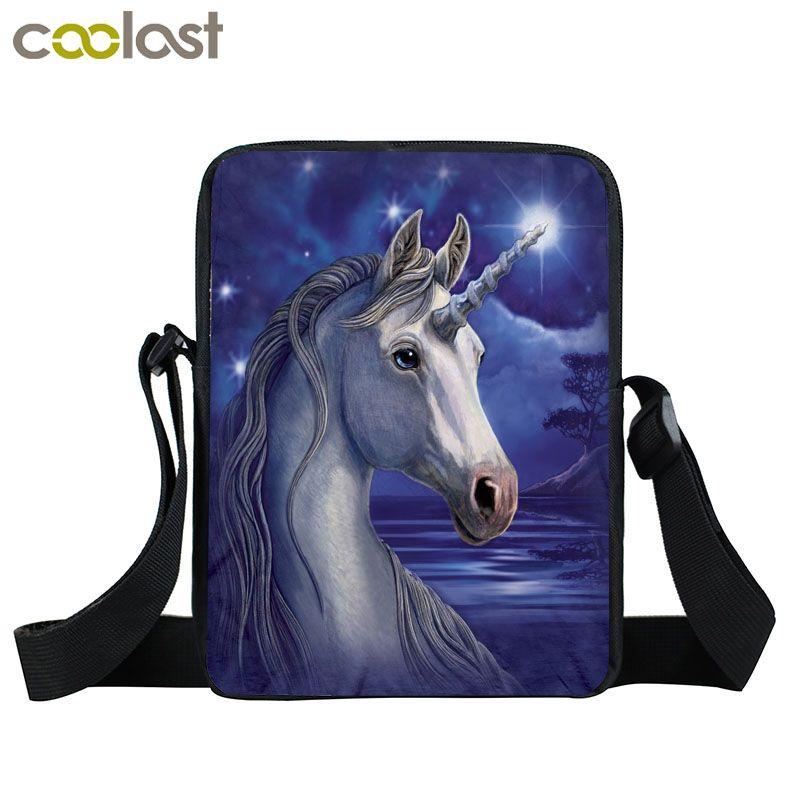 1a86ade513 Anime Unicorn   Rainbow Pony Messenger Bag Cartoon Crazy Horse Children  Shoulder Bag Kids Book Bags Mini Crossbody Bags Purses Designer Handbags  From ...