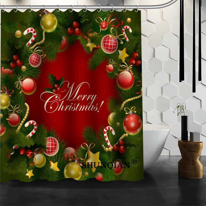 2019 Merry Christmas Shower Curtain New Product Personalized Custom Fabric Bath From Caley 5768