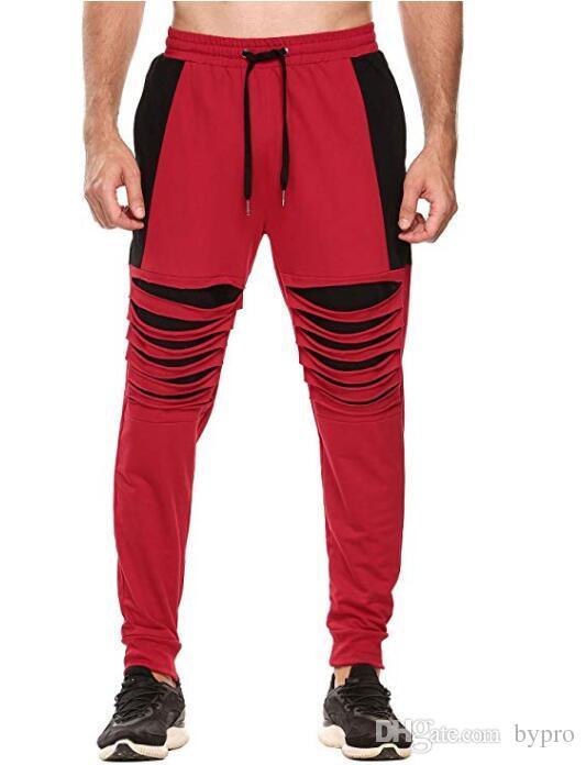 e01cea8ba33fb Compre Pantalones De Moda Para Hombre Pantalones De Chándal De Diseñador  Pantalón De Chándal De Buena Calidad Ropa De Raya Lateral Pantalones Con  Cordón ...