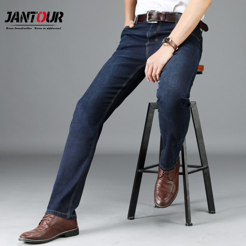 d480273966 Großhandel 2018 Sommer Neue Männer Jeans Business Casual Dünne Slim Fit  Schwarz Jeans Männlich Stretch Arbeit Denim Hosen Hosen Klassische  Baumwolle Mann ...