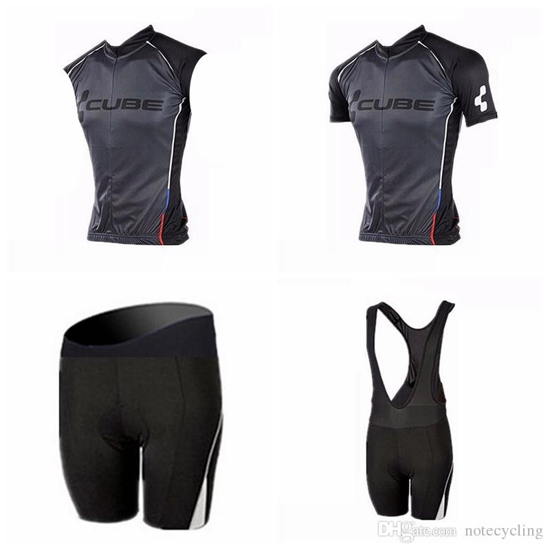 CUBE Cycling Short Sleeves Jersey Bib Shorts Sleeveless Vest Sets The  Latest Summer Mountain Bike Outdoor Comfort Ropa Ciclismo A41323 Cheap Bike  Cycling ... 765ae1223