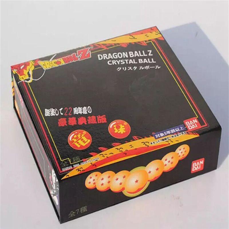 DragonBall de animación 7 estrellas Crystal Ball 4.5 cm Nuevo en caja Dragon Ball Z Juego completo de juguetes / set