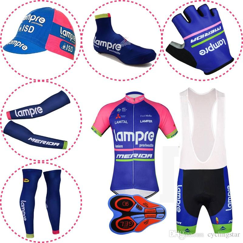 Summer Breathable Pro Team LAMPRE MERIDA Cycling Jersey Set Men ... 20663c5d1