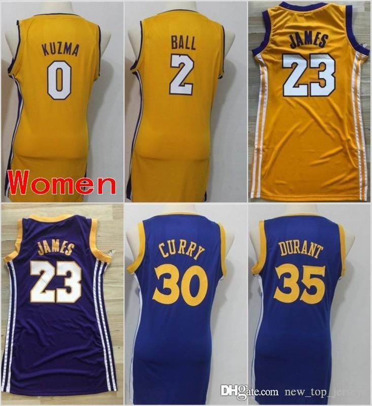 Women Los Angeles 23 LeBron James Lakers Jerseys Golden State 30 ... a66676804