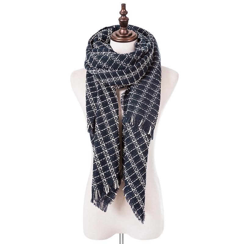 Großhandel Superbg Mode Winter Plaid Schal Für Frauen Baumwolle ...