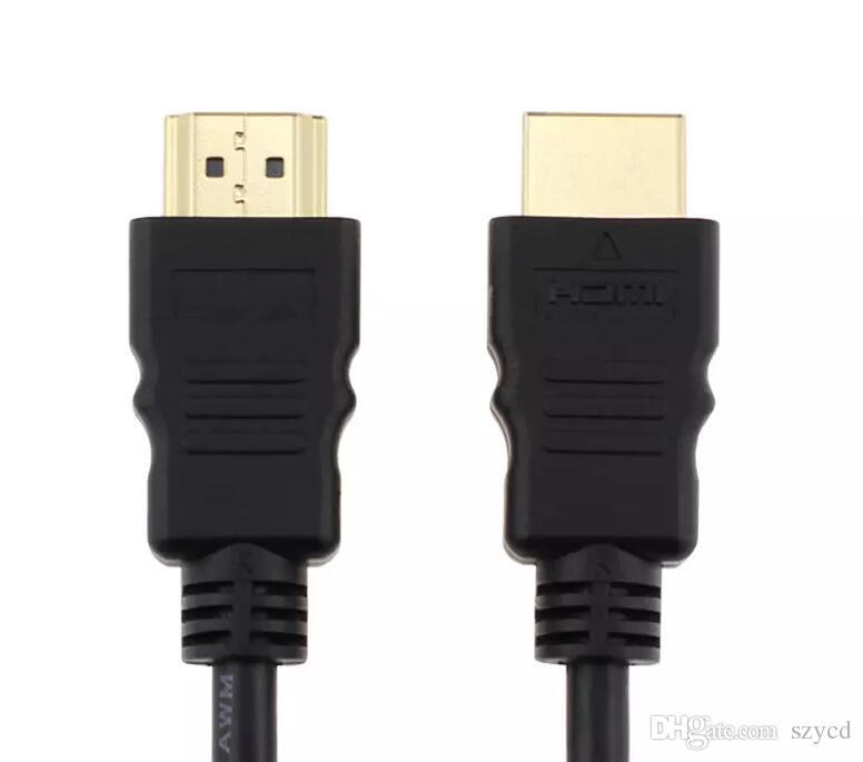1 Mt HDMI Stecker auf Stecker Kabel 1080 P 3D Kabel für HD TV LCD Laptop PS4 Xbox Projektor Computerkabel