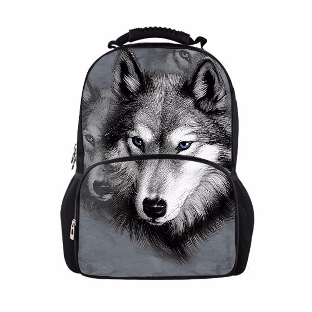 befded46aa7 FORUDESIGNS Cool Children 3D Animal Felt Backpack Men S Backpack Wolf  Printing Bag School Girls College Student Bagpack Retail Mens Messenger  Bags Messenger ...