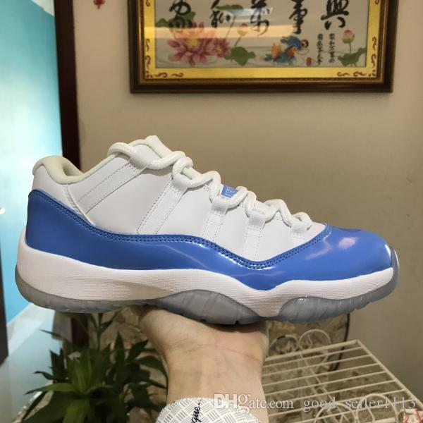 3a77552623f High Quality 11 Low UNC 11s Women Men Basketball Sports Shoes Blue ...