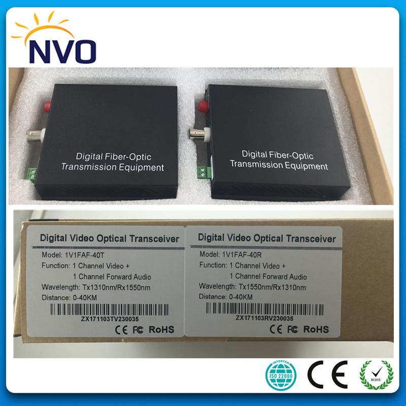 Single Mode,Simplex,40KM,FC,American Charger,1Channel Anolog Video 1ch  Forward Audio Mini Fiber Optic VideoTransceiver