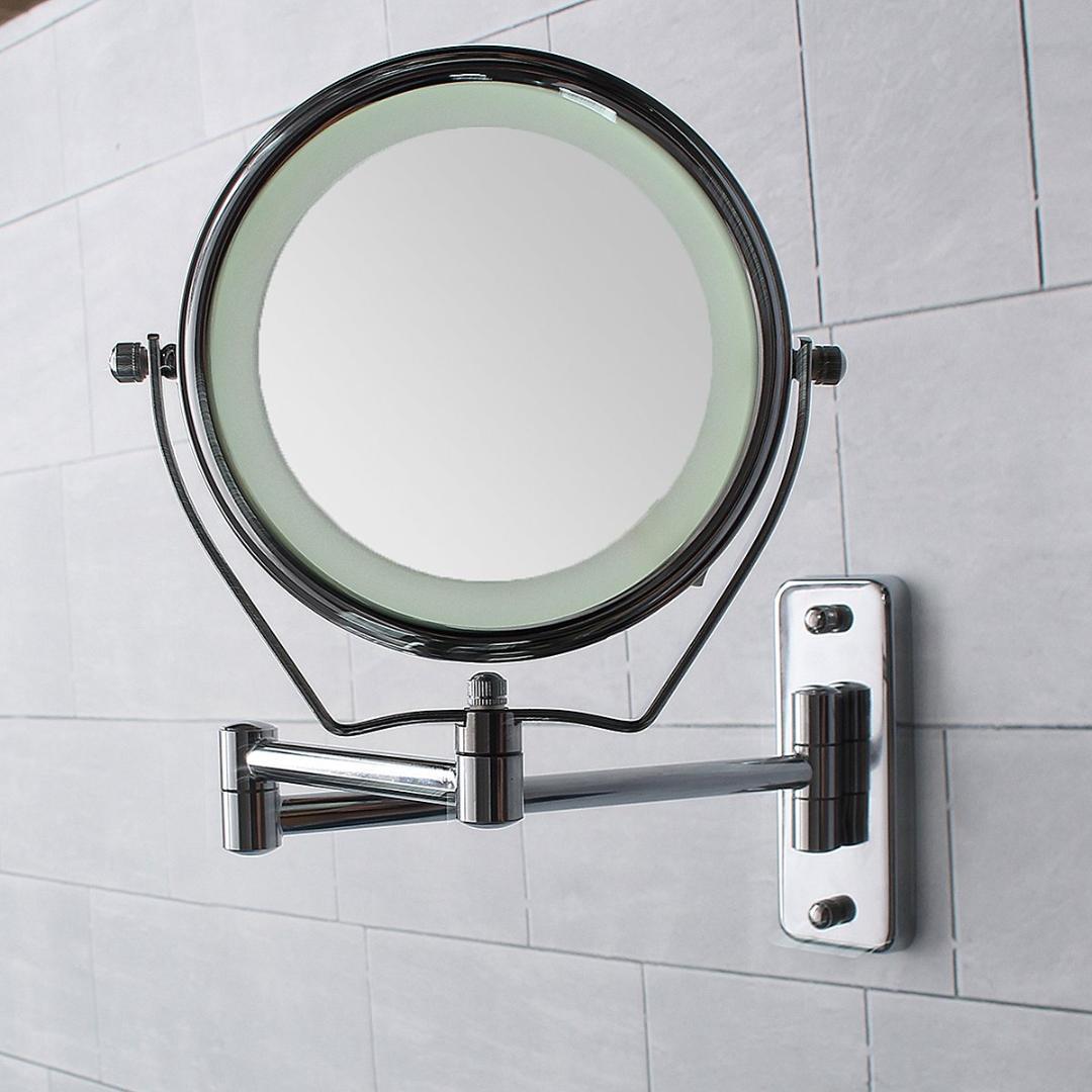 6 Inch Double Side Led Illuminated Magnifying Bathroom Shaving ...