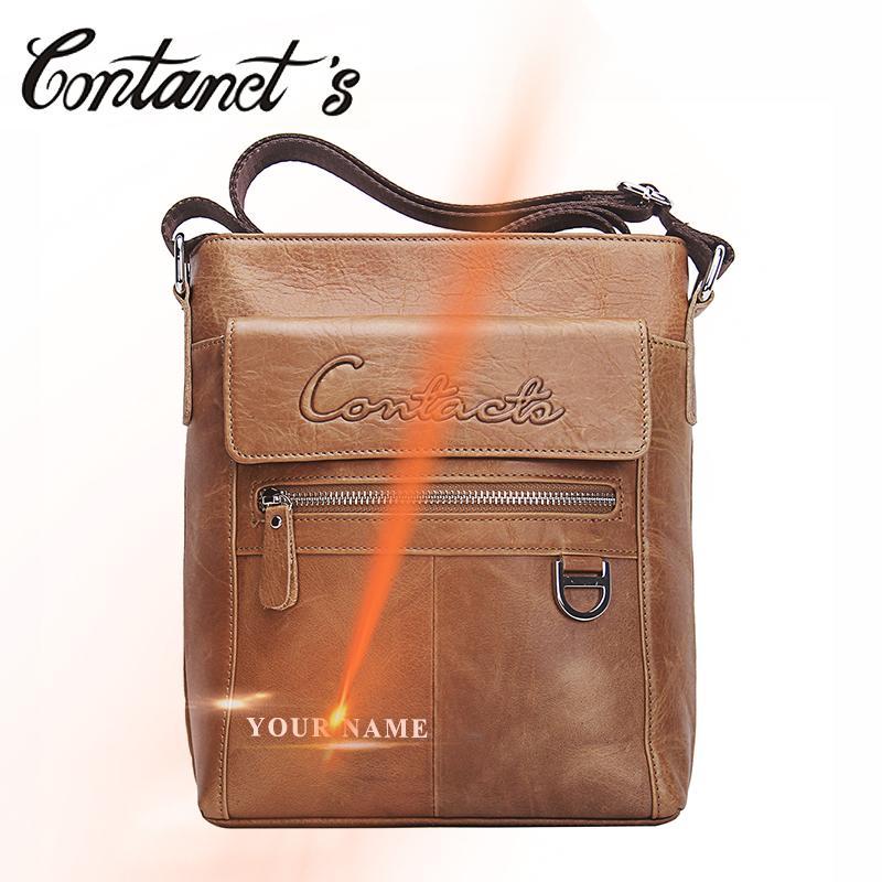 94e5182215a8 NEW Genuine Leather Men Messenger Bags Promotional Small Crossbody Shoulder  Bag Hot Sale Casual Handbags For Man Brand Designer