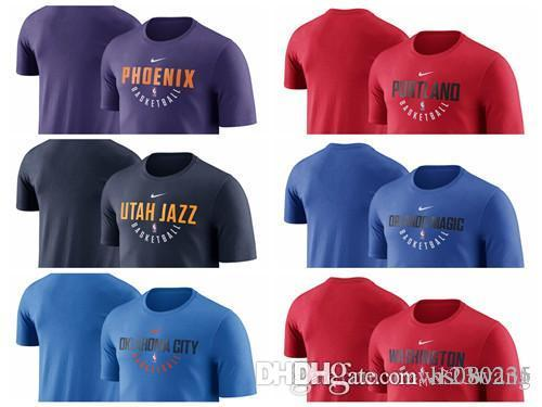 new product ca0b3 0bd69 Utah Jazz Practice Phoenix Suns Washington Wizards Performance T-Shirt