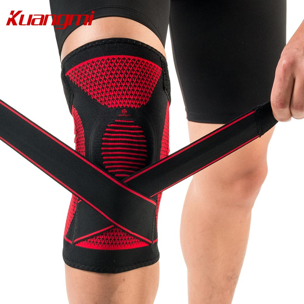 76d274d156 2019 Kuangmi Silicone Knee Pads Volleyball Knee Sleeve Elastic Knee Brace  Support Sports Adjustable Bandage Protector Basketball From All_sport, ...