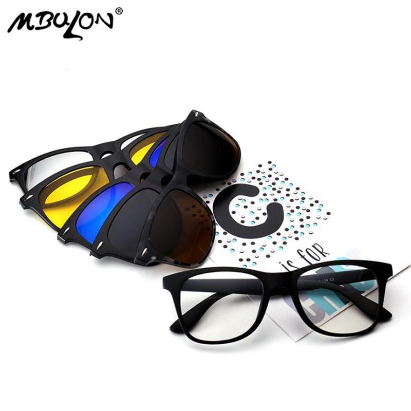 5dc1cddc2d Compre MBULON 5 Lens Clip En Gafas De Sol Hombres Mujeres Gafas De Sol  Polarizadas Magnéticas Para Miopía Día Gafas De Visión Nocturna Okulary A  $22.33 Del ...