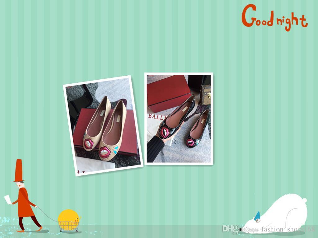 5066cfb7a Fashion Women Dress Shoes Luxury Brand Fashion Prints And Beading ...