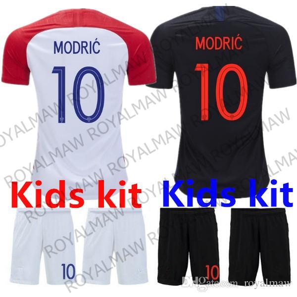 MODRIC Kids Soccer Jersey Kit 2018 World Cup MANDZUKIC Football Uniform  Home Red Away Black Child PERISIC RAKITIC Kovacic Hrvatska Boy Youth UK 2019  From ... 97d1f869d