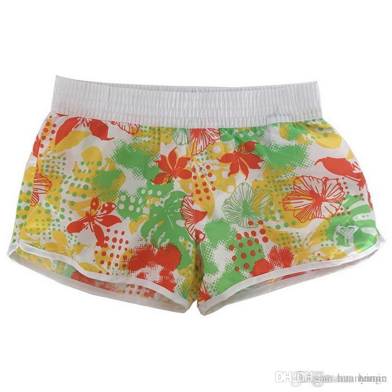 44da2d0a39 2018 Summer Quick Dry Women's Swim Shorts Swimsuit Woman swimming trunks  Floral Swimwear Bottom Beachwear Panties For Surfing