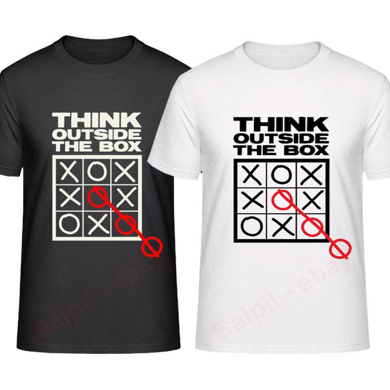 3d98a19d9 Think Outside The Box T Shirt Men & Women / Black & White Tic Tok Cool  Casual Pride T Shirt Men Unisex New T Shirt Buy Cool T Shirt Companies From  ...