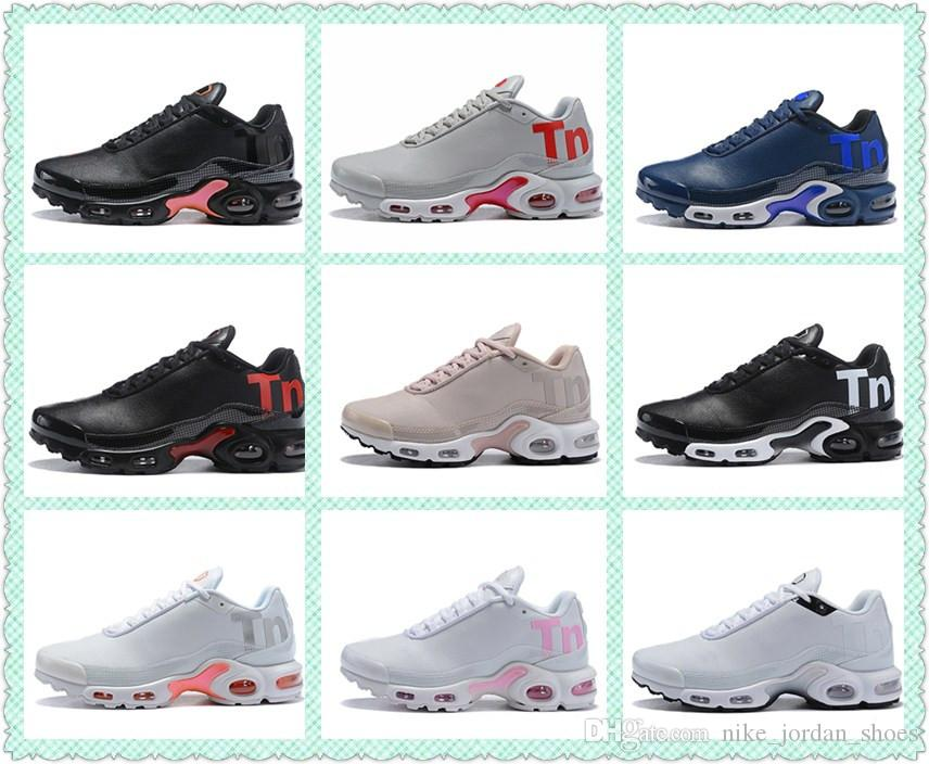79e56a93c4 2019 2018 Plus TN Ultra SE Men Running Shoes Mercurial TN Cushion Desinger  Sports Trainer Navy Royal Black White Grey Mens Sneaker With Box From ...