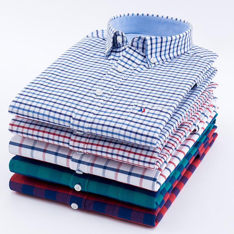 e448ebb246bd1 Autumn New Long Sleeve Cotton Oxford Dress Shirt Men Social Mens ...