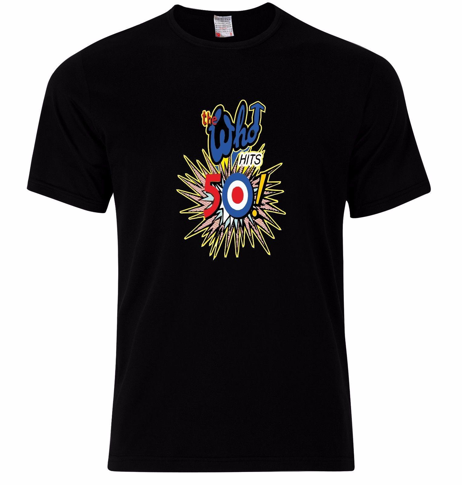 a44ca70d6b The Who Hits 50 Years Townshend Entwistle Mod Target T Shirts Tops Rock  Music Cool Casual Pride T Shirt Men Unisex New Retro Tee Shirts T Sirts  From Basgirl ...