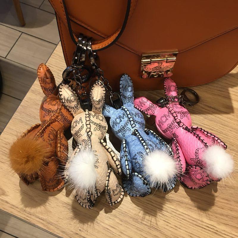 Haute qualité mode hommes et femmes porte-clés lapin suspendus sac à dos décoration double - épaule voiture porte-clés hommes et femmes