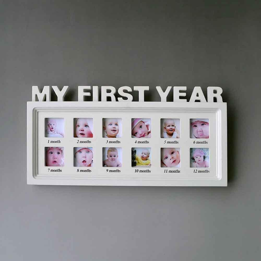 2018 Photo Frame Artificial Board Baby My First Year Picture Frame ...
