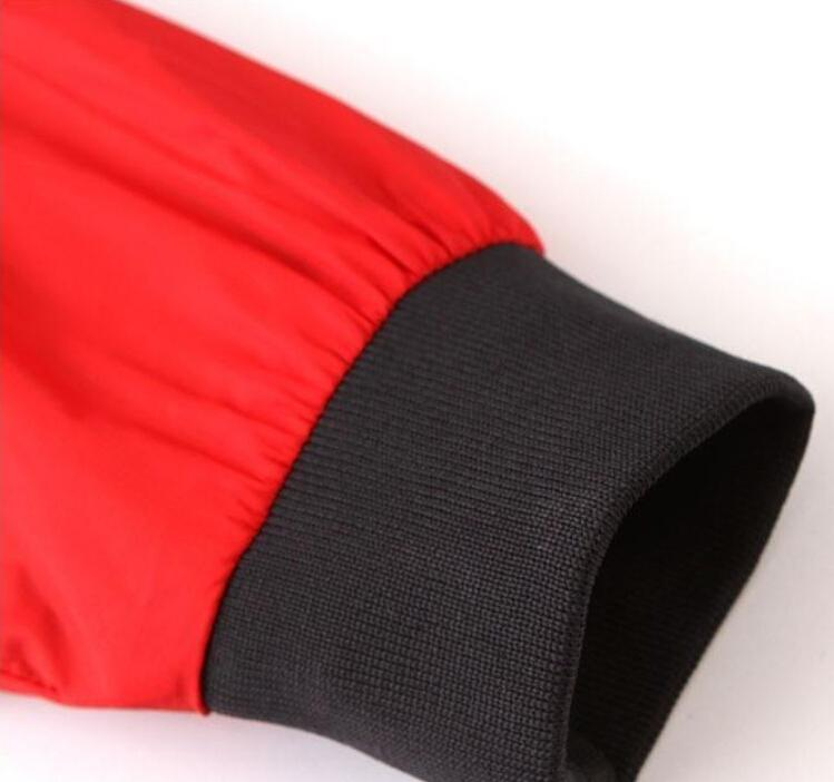 Homens Mulheres Esportes Blusão Jaquetas Cores Patchwork Contrato Jaqueta À Prova D 'Água Zíperes Casacos Com Capuz
