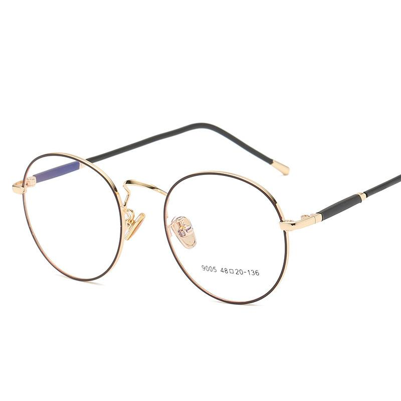 7d08240e6f5 2019 Fashion Round Glasses Vintage Style Women Retro Eyeglasses Frames Men  Eyeware Frame Alloy Eye Glasses Optical Myopia 215 From Juemin