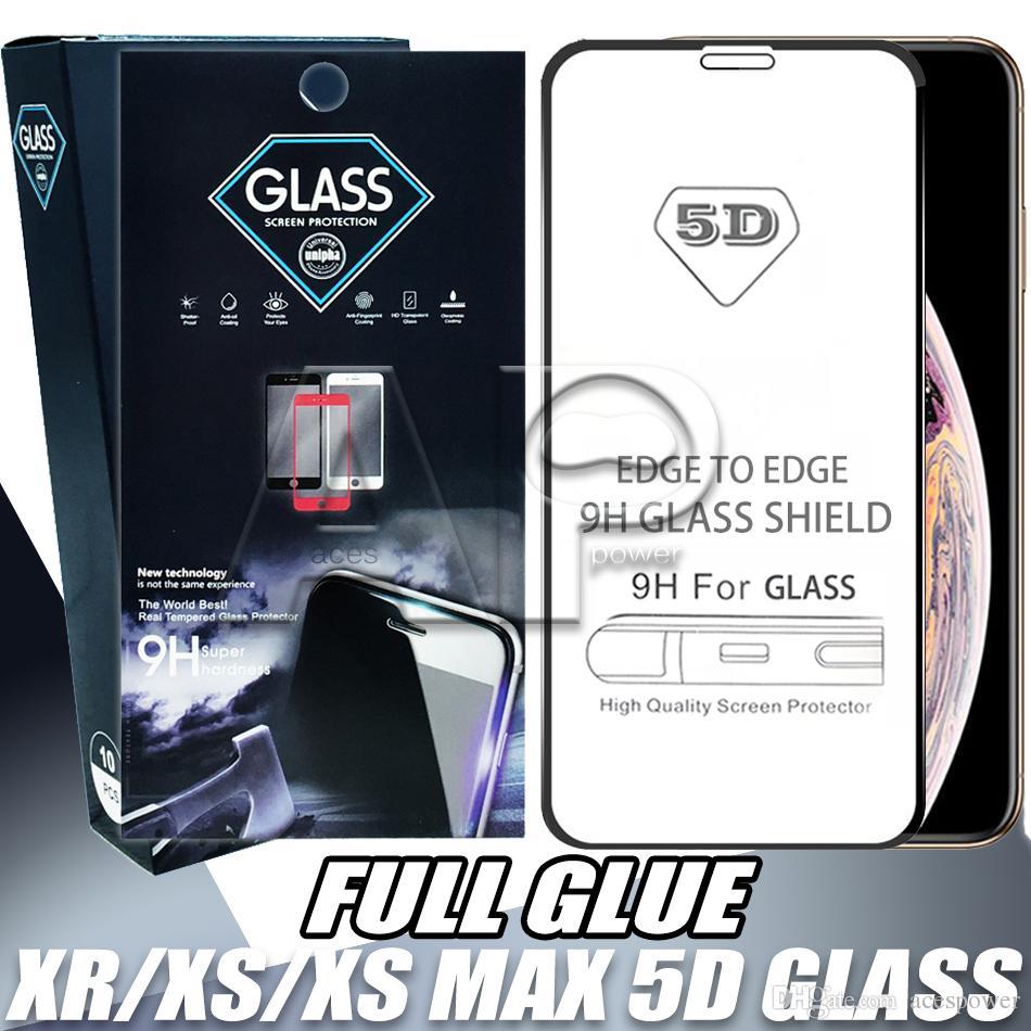 5D cobertura completa Protetor de tela de vidro temepered para iphone 12 11 Pro Xs max xr x samsung galaxy m20