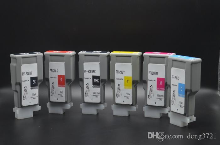 12 teile / los 12-Color-set Volle 300 ml PFI206 tinte tank für Canon imagePROGRAF IPF6400 IPF6450 großformatdrucker