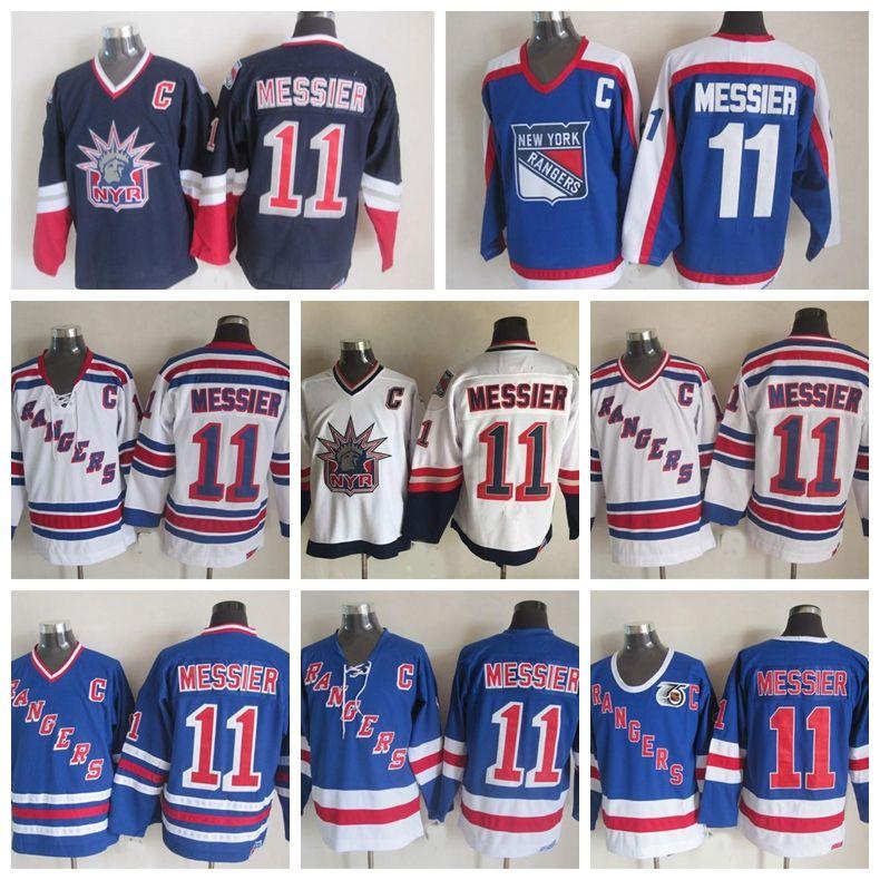3b0a5bcd02e Vintage New York Rangers Mark Messier 75th AnniversaryHockey Jerseys ...