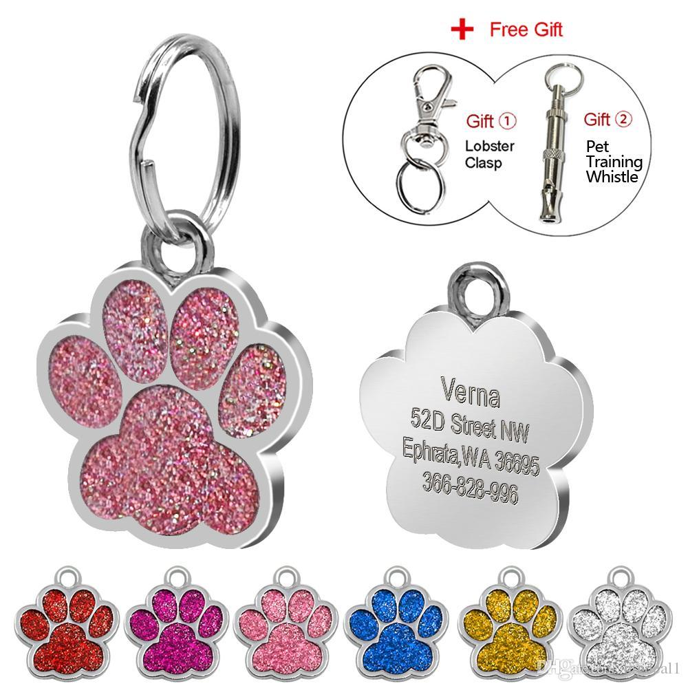 9289de5e9bf3 Glitter Paw Customer Pet ID Tags Personalized Engraved For Dog & Cat  Reflective Paw Print Tag Online with $2.54/Piece on Bigdeal1's Store |  DHgate.com