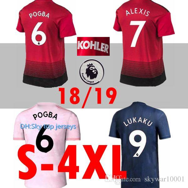2b34efca1 2019 XXL 3XL 4XL 18 19 ALEXIS LUKAKU Soccer Jerseys 2018 2019 Man POGBA 6  RASHFORD UtD Football Shirt MAILLOT DE FOOT UNITED THAILAND Quality From ...