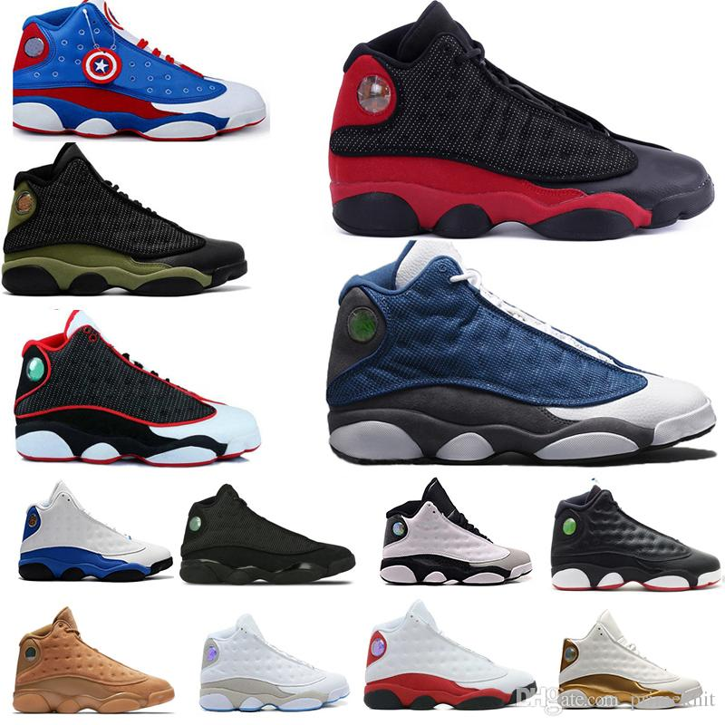 73883f7db75f New 13s 13 Men Basketball Shoes Bred Playoff Hyper Royal White Red Flints  Chicago Flights Blue Ivory Black Cat Sports Sneaker 5.5 13 Shoes Sneakers  Jordans ...